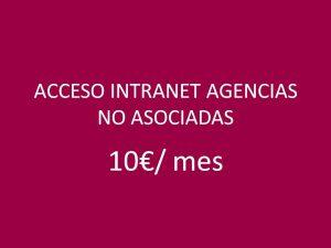 ACCESO INTRANET AGENCIAS